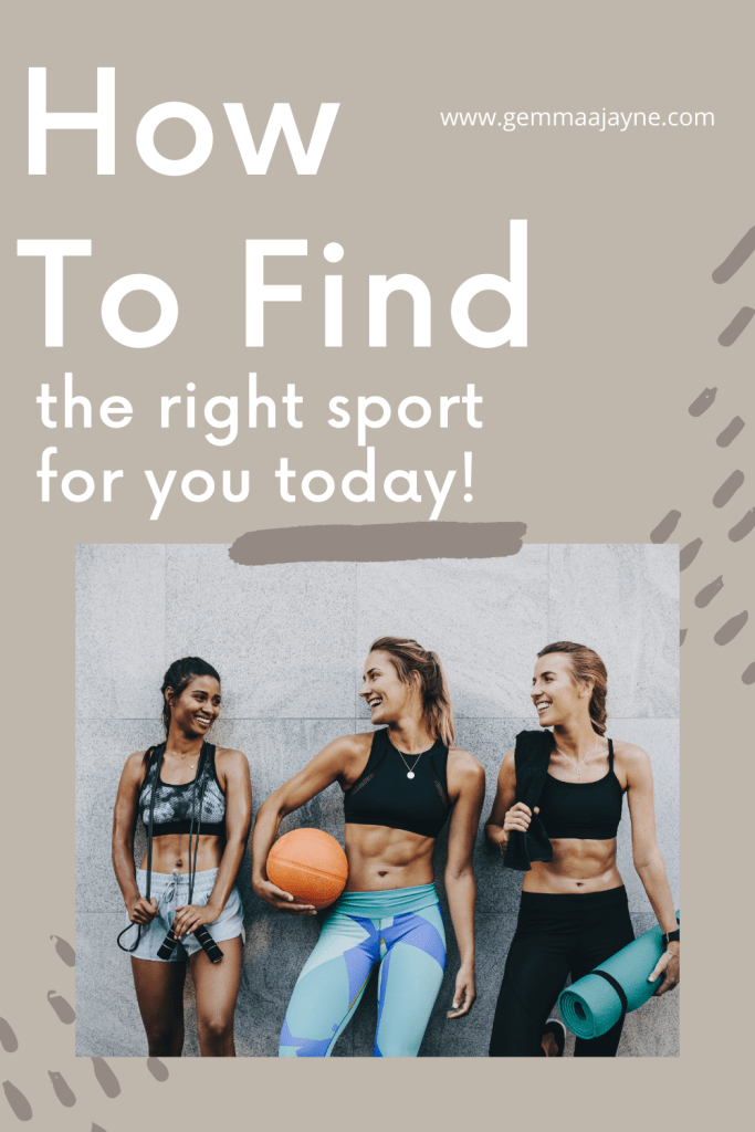 How to find the right sport for you, a pink for pinterest.