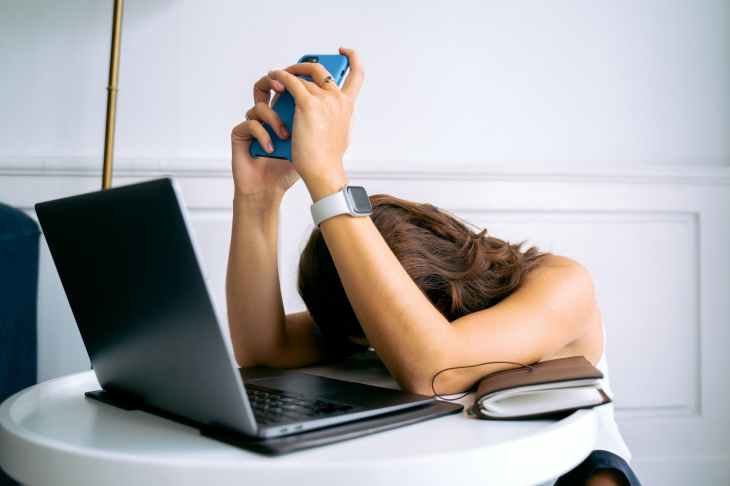 people woman relaxation laptop