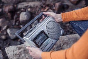 portable cassette player