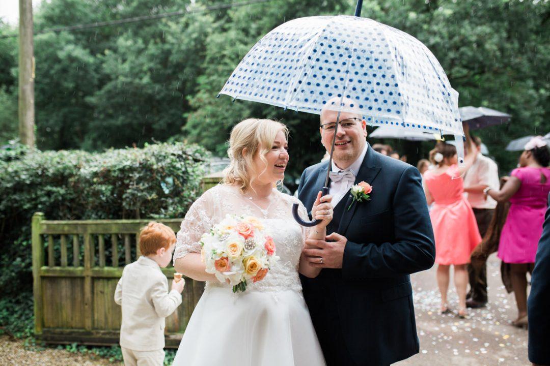 Rainy wedding in Essex
