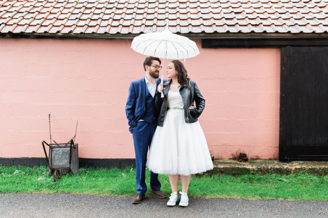 Rainy wedding at The Great Lodge, Great Bardfield