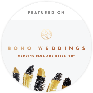 Featured on BOHO Weddings blog badge