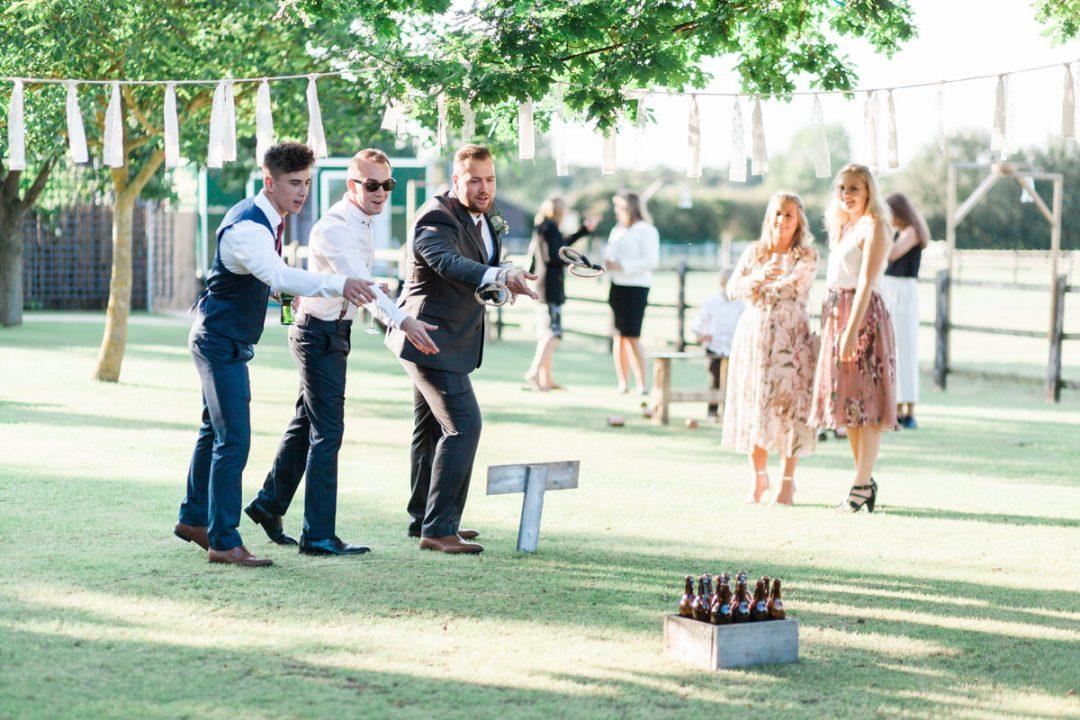 DIY garden wedding game