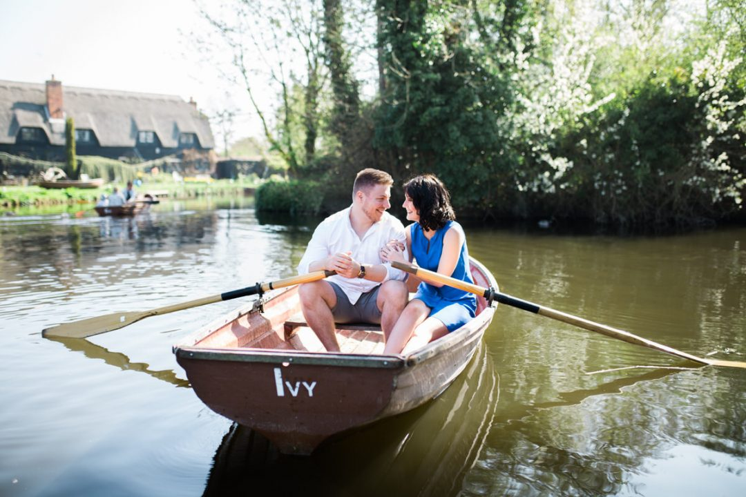 Flatford Mill engagement shoot