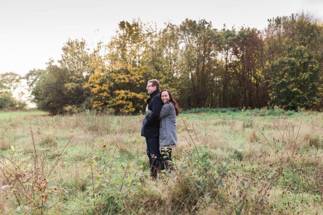 Colchester engagement shoot at Highwoods Park