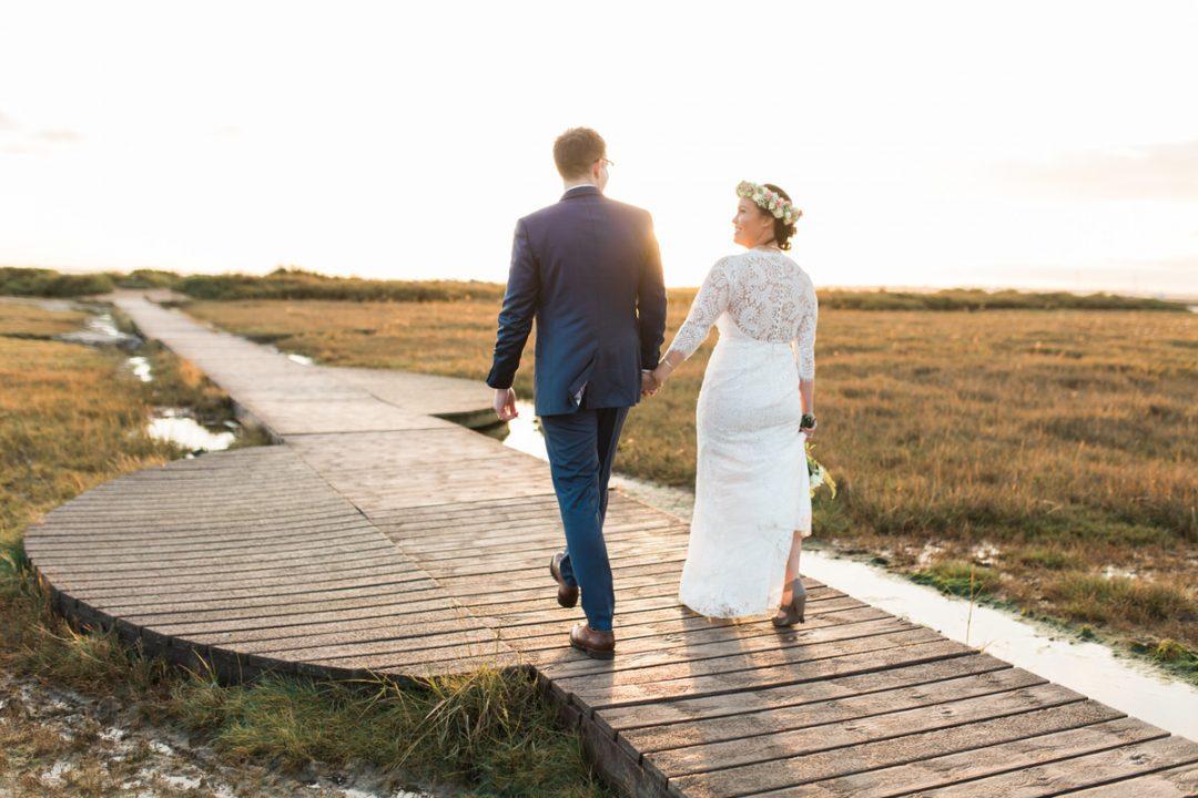 Essex wedding photos at sunset