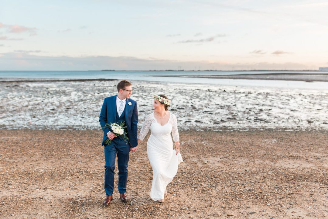 Essex beach wedding