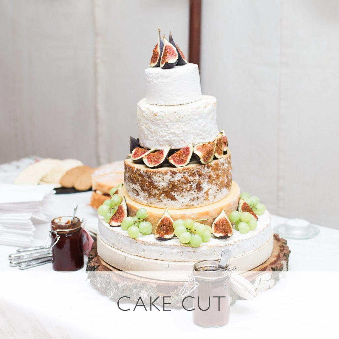 Sample wedding timeline, cake cut