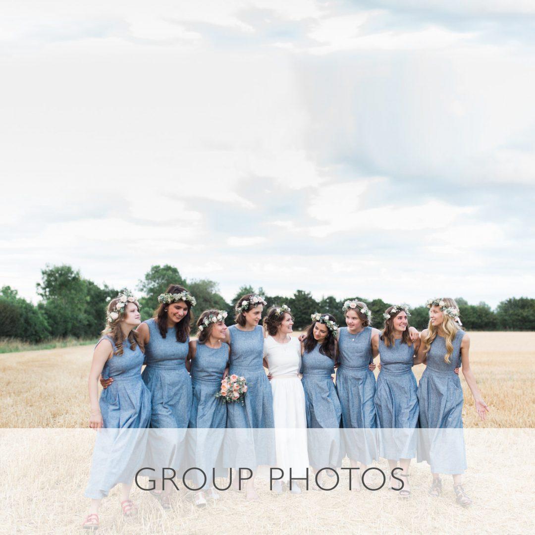 Sample wedding timeline, the group photos