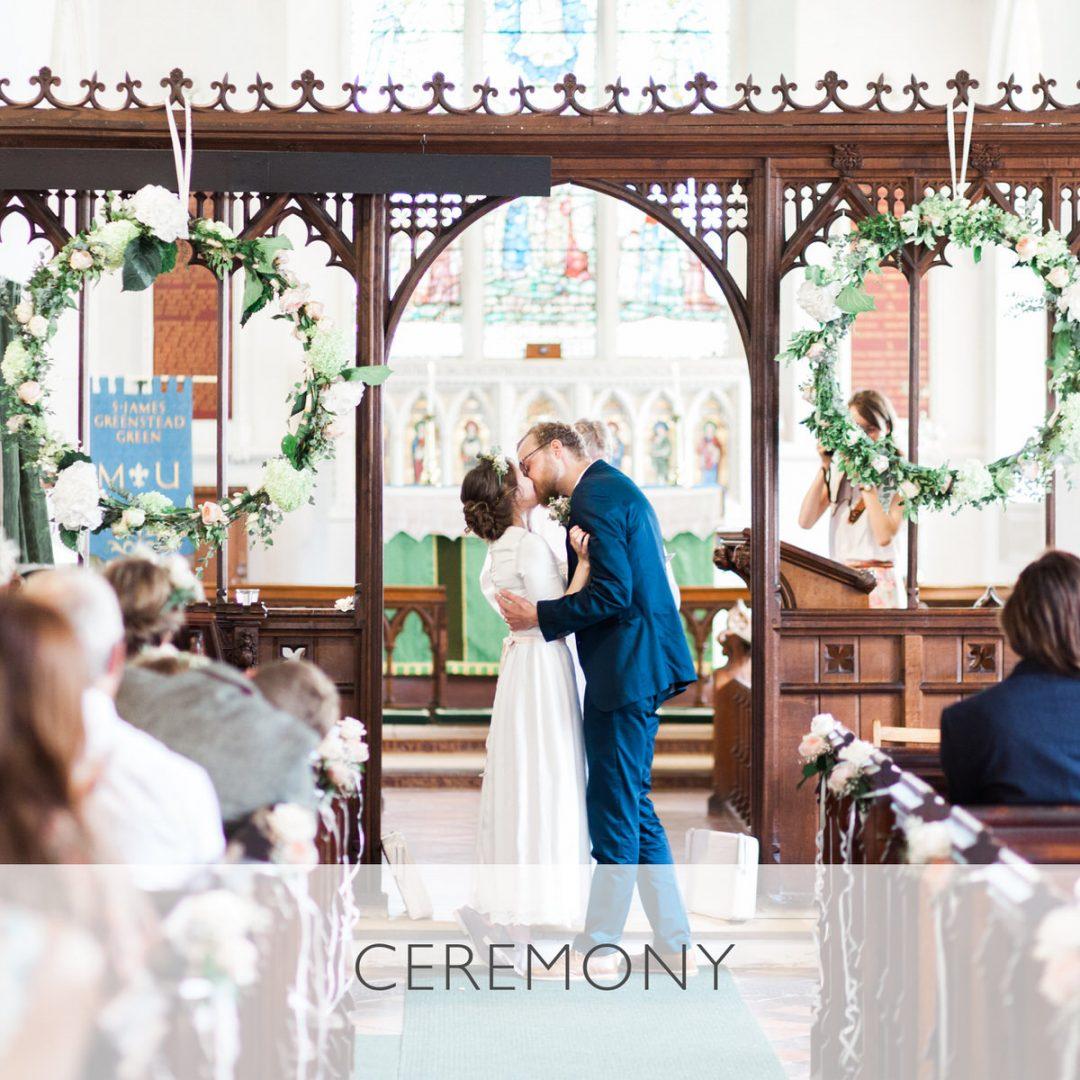 Sample wedding timeline, the ceremony