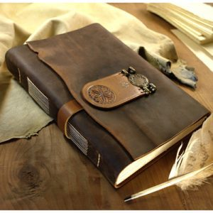 Personalised Leather Notebook by MedievalJourney