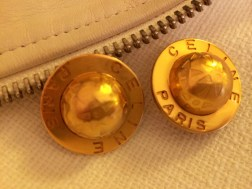 Earrings: Celine, Gold Tone, 1980s