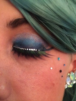 My false lashes were by getLashed and my eye jewels were from Topshop.