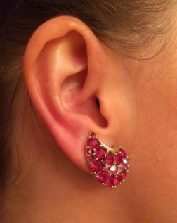 Earrings: Lisner, 1950s, Gemma Redmond Vintage