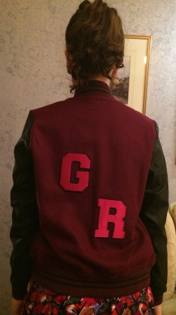 I customised this Forever 21 varsity jacket with my own initials found on Ebay.