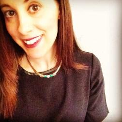 Necklace: 1980s, Gemma Redmond Vintage Top: Zara