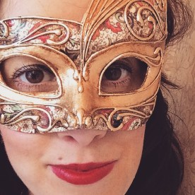 Another purchase...One of my masks - handmade by the artisans at 'La Bauta'.