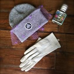 Hat: Silver Spoon Attire Gloves: Marks and Spencer Perfume: Balenciaga Rosabotanica