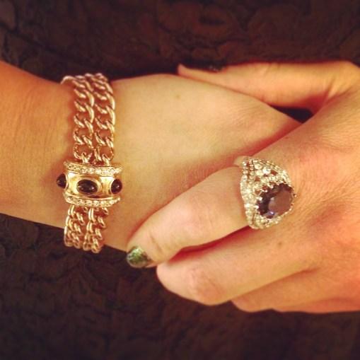 Bracelet: Givenchy, 1980s, Gemma Redmond Vintage Ring: 1990s, Gemma Redmond Vintage