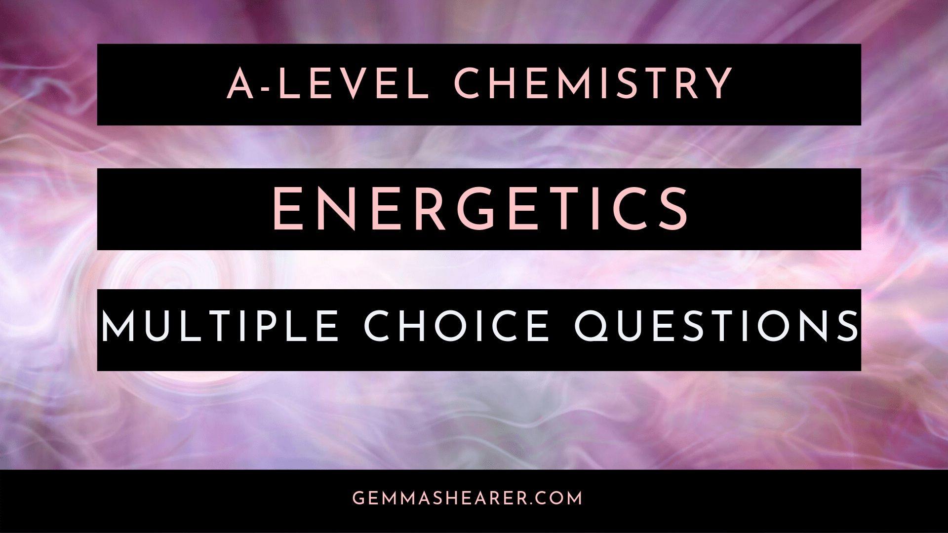 energetics multiple choice questions