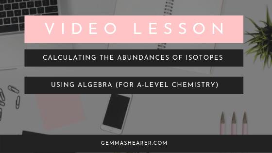 calculate the abundances of isotopes using algebra