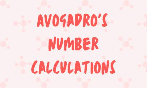 Avogadro's number calculations