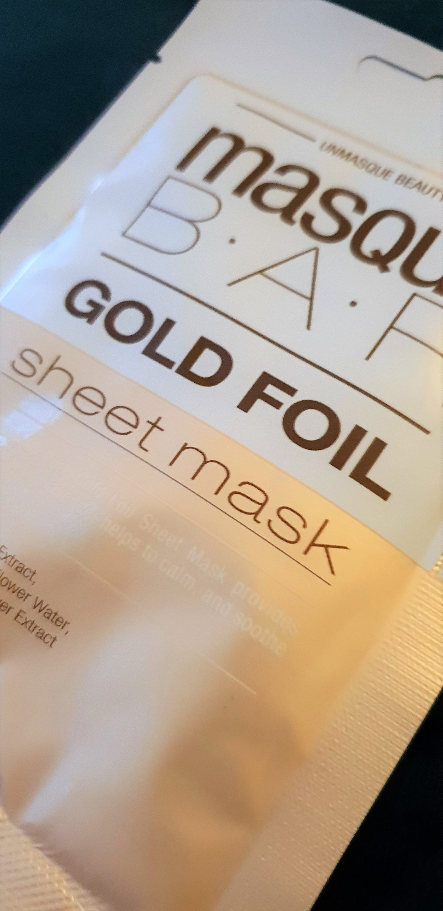 Gold Masque bar foil