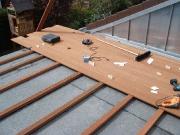 Dachterrasse in Arbeit