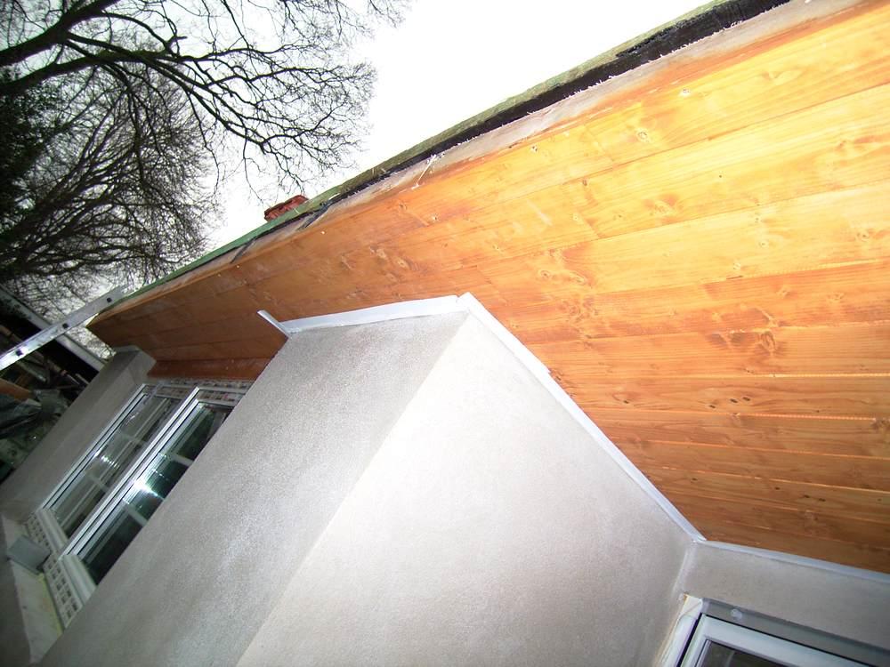 dachuberstand verkleiden dachverkleidung nachher 2 kunststoff