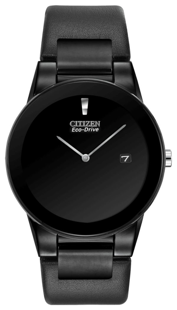 CITIZEN CITIZEN Men's Eco-Drive Axiom Watch with Black Leather Band - Gemorie