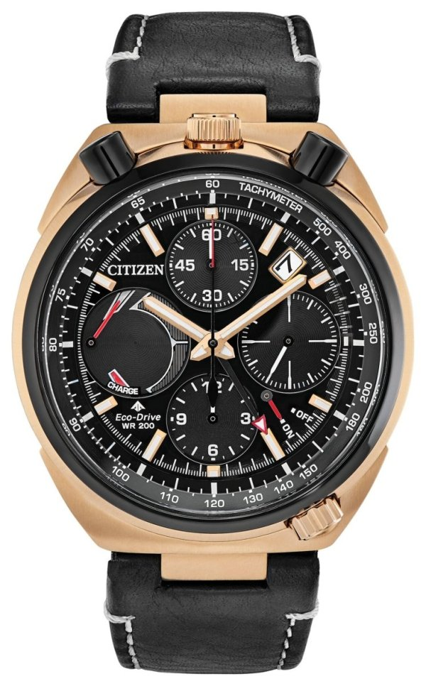 CITIZEN CITIZEN Promaster Tsuno Chronograph Racer Ion-Plated Flyback Watch - Black - Gemorie