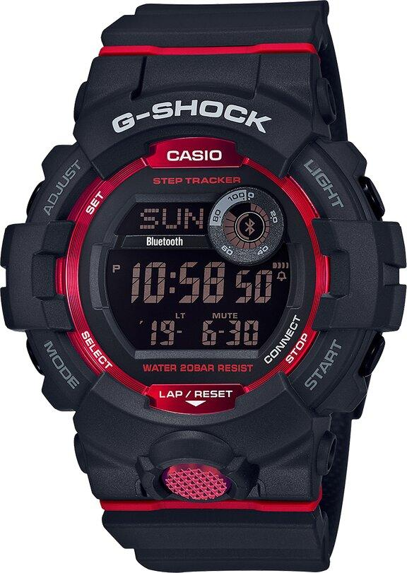 G-SHOCK G-SHOCK Daily Health and Fitness Support Function Men's Watch - Black and Red - Gemorie