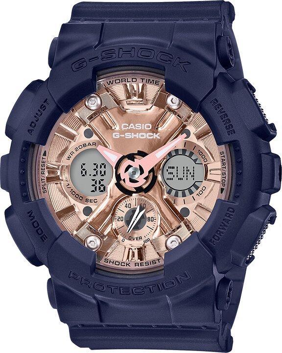 G-SHOCK G-SHOCK EL Backlight Hourly Time Signal Women's Watch - Navy - Gemorie