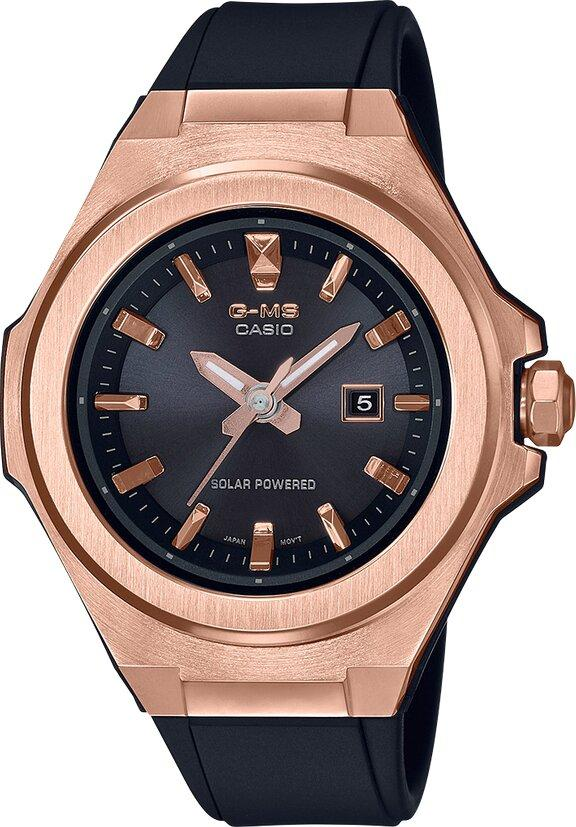 G-SHOCK G-SHOCK G-MS Three-Hand Easy to Match Everyday Women's Watch - Black & Rose Gold - Gemorie