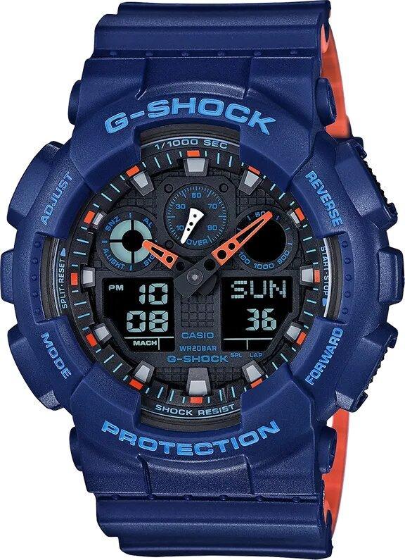 G-SHOCK G-SHOCK GA100L-2A Men's Digital Analog Watch - Blue - Gemorie