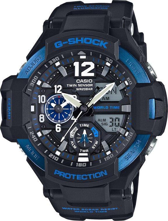 G-SHOCK G-SHOCK GravityMaster Digital Compass Watch - Black - Gemorie