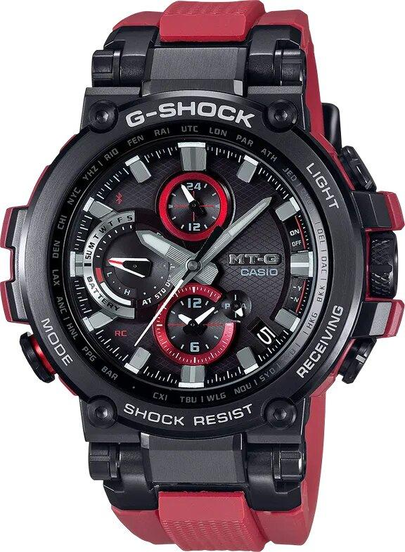 G-SHOCK G-SHOCK Limited Edition Multiband 6 Spherical Glass Men's Watch - Black and Red - Gemorie