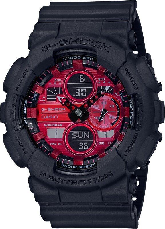 G-SHOCK G-SHOCK Mach Indicator Men's Analog Digital Watch - Black & Red - Gemorie