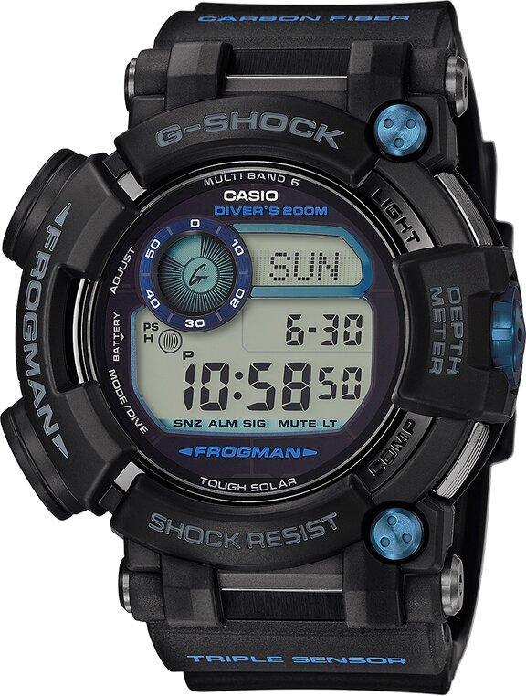 G-SHOCK G-SHOCK Master of G FROGMAN Triple Sensor Digital Compass Diving Watch - Black - Gemorie