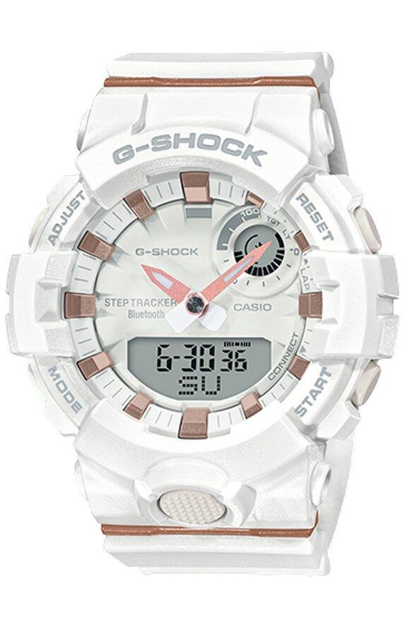 G-SHOCK G-SHOCK S Series Bluetooth Double LED Light Sports Watch - White - Gemorie