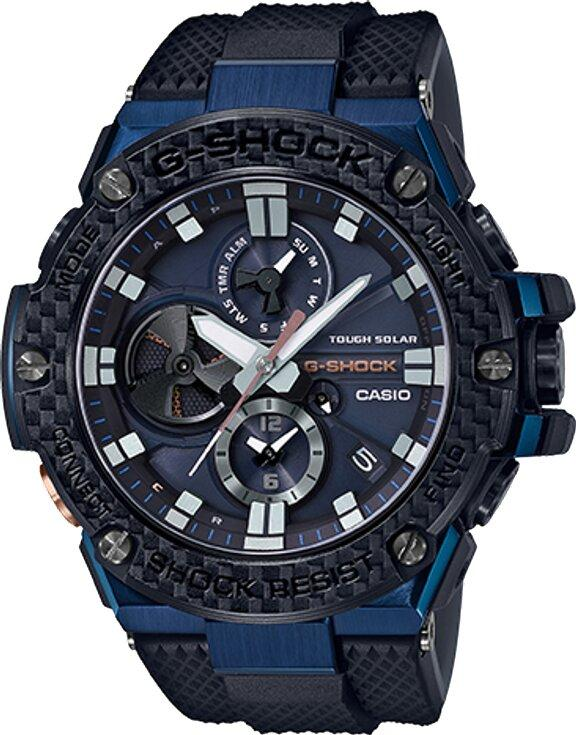 G-SHOCK G-SHOCK Scratch Resistant Sapphire Glass Urethane Band Men's Watch - Black and Blue - Gemorie