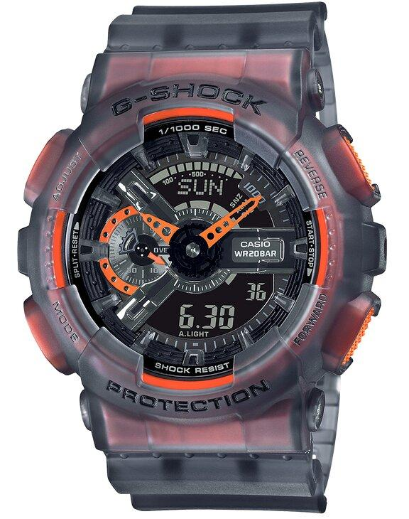 G-SHOCK G-SHOCK Speed Indicator Shock Resistant Men's Watch - Grey and Orange - Gemorie