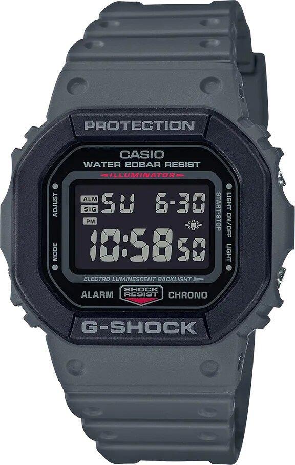 G-SHOCK G-SHOCK Square Face Shock Resistant Men's Watch - Grey - Gemorie