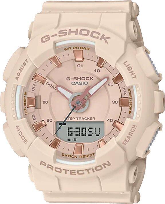 G-SHOCK G-SHOCK Women's Steptracker Digital Analog Watch - Beige - Gemorie