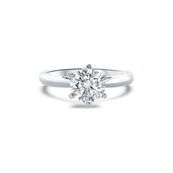 "GEMODA GEMODA ""Brilliance"" Moissanite 1ctw Signature Moissanite Round Solitaire 18k Engagement Ring - Gemorie"