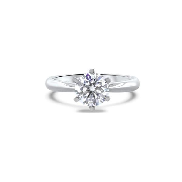 "GEMODA GEMODA ""Je'Taime"" Moissanite 1ctw Round Solitaire 18k Engagement Ring - Gemorie"