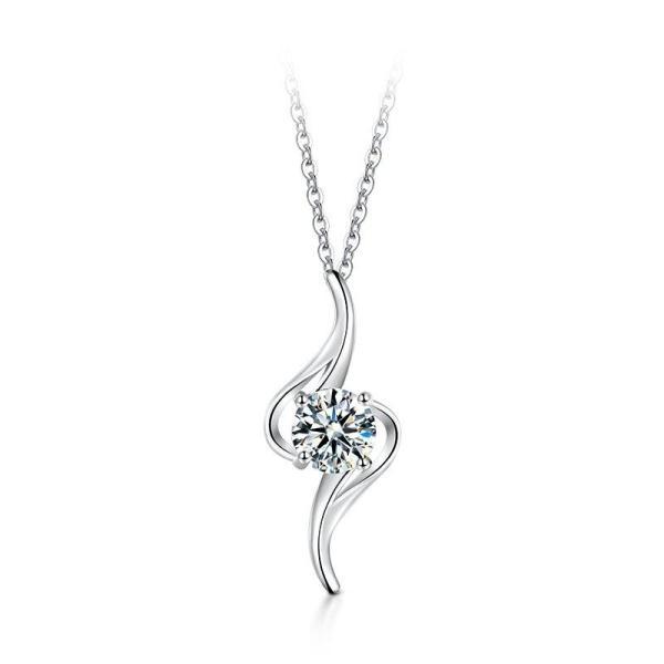 """GEMODA GEMODA """"St. Tropez"""" 1 Carat Moissanite Necklace in 925 Sterling Silver - Gemorie"""
