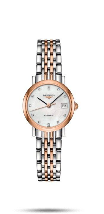 LONGINES LONGINES Elegant Collection Power Efficient Women's Watch - Stainless Steel - Gemorie