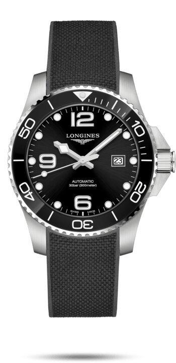 LONGINES LONGINES HydroConquest Rubber Strap 43mm Watch - Black - Gemorie