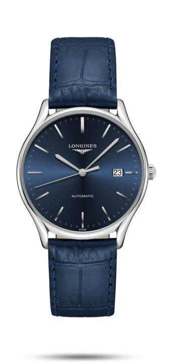LONGINES LONGINES Lyre Leather Leather Watch - Blue - Gemorie